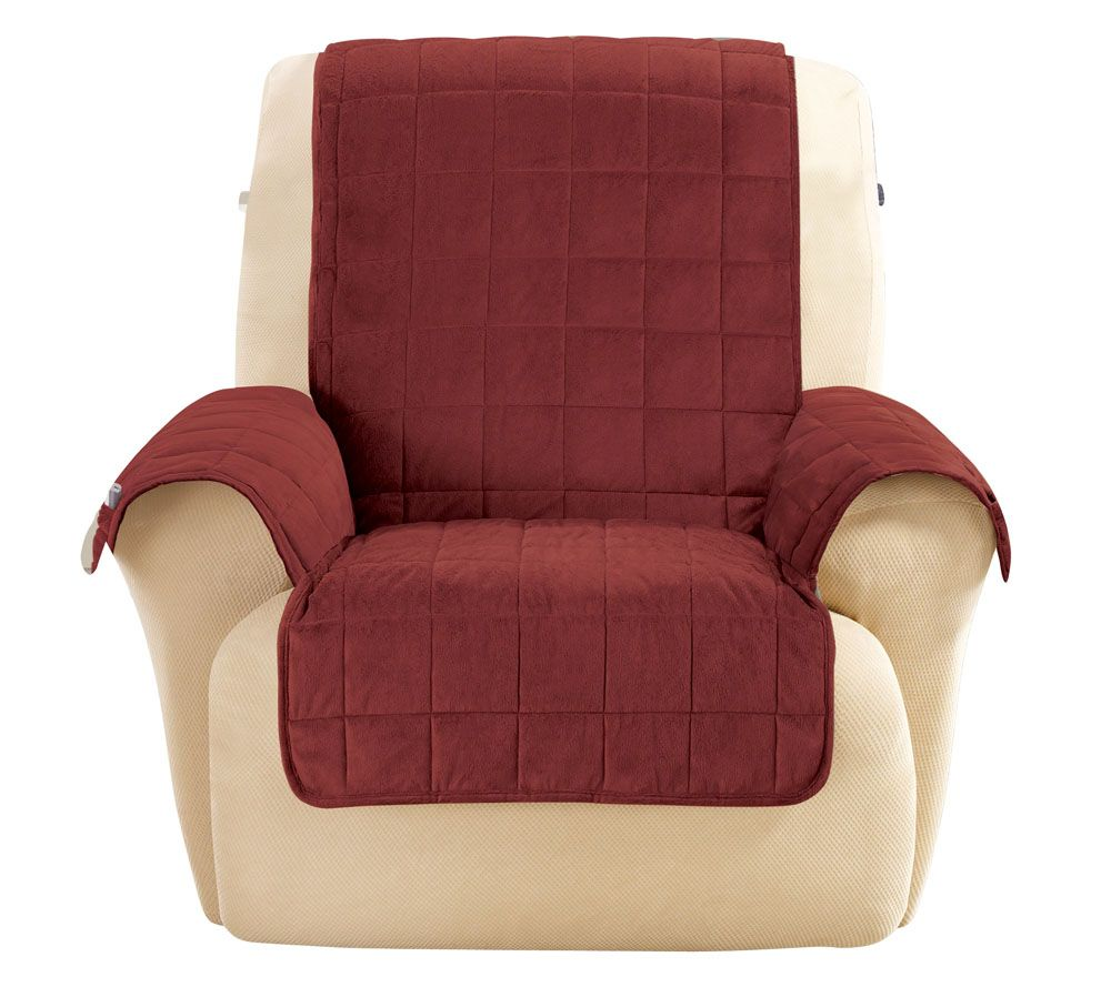 Ordinaire Sure Fit Deluxe Comfort Recliner Furniture Cover W/ Non Skid   Page 1 U2014  QVC.com