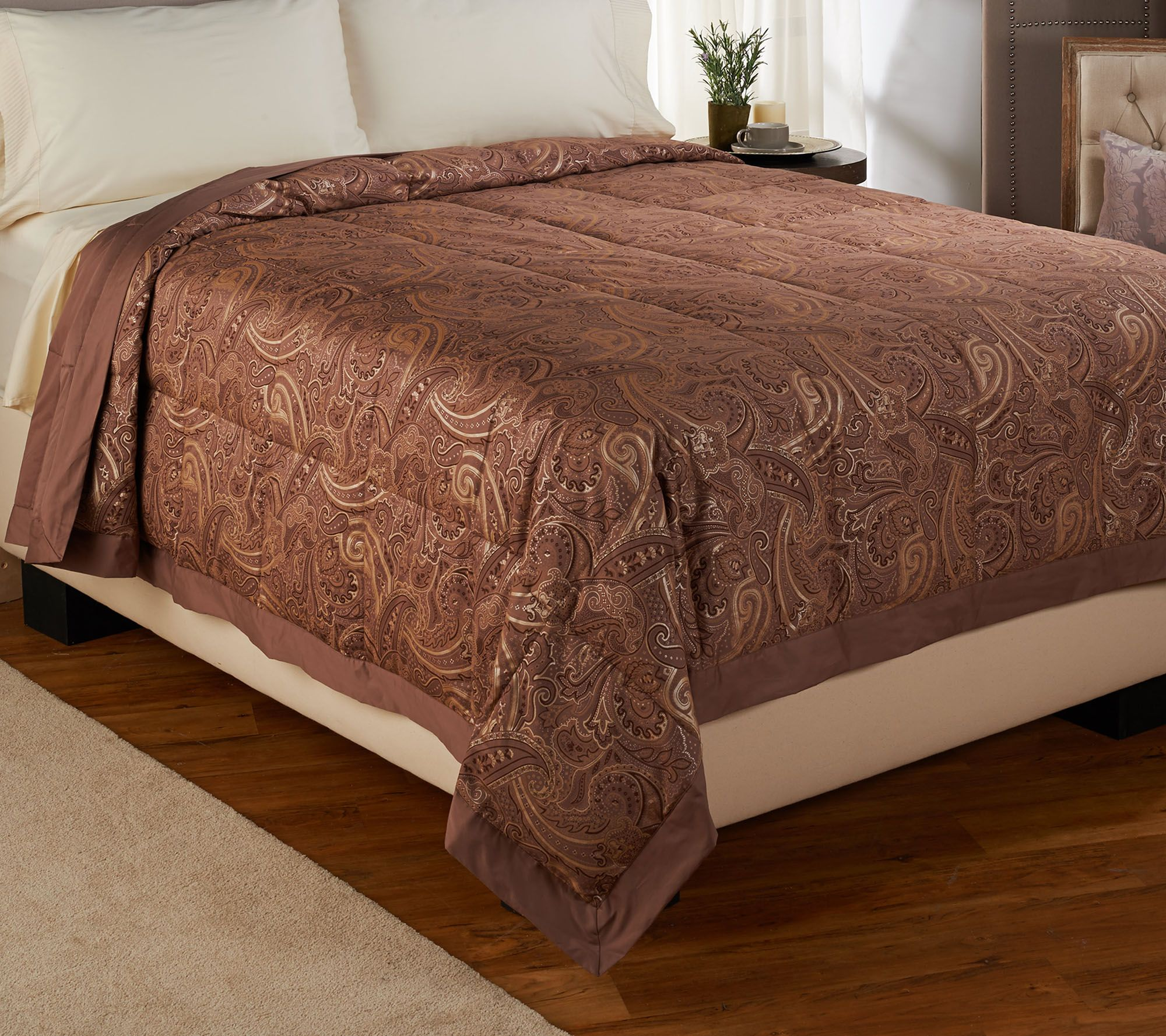 Northern Nights Amalfi Coast 300TC 550FP Reversible FL Down Blanket —  QVC.com 6357d4ee3