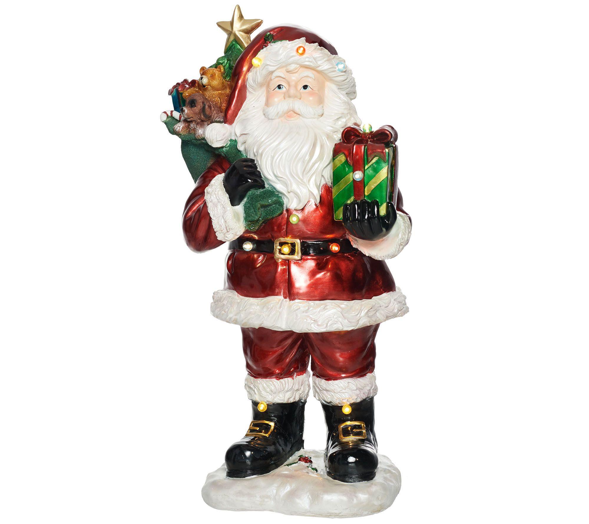 Kringle Express Indooroutdoor 37 Illuminated Santa Claus With Gift Bag