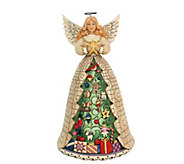 Jim Shore Heartwood Creek Angel with Christmas Tree Dress - H216185