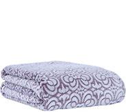 Berkshire Blanket Tile Floral Velvet Soft TwinBlanket - H292885