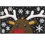 Nourison Enhance 17 x 28 Christmas Reindeer Rug - H293085