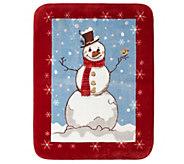 Shavel Hi Pile 60 x 80 Snowman Luxury Throw - H300885
