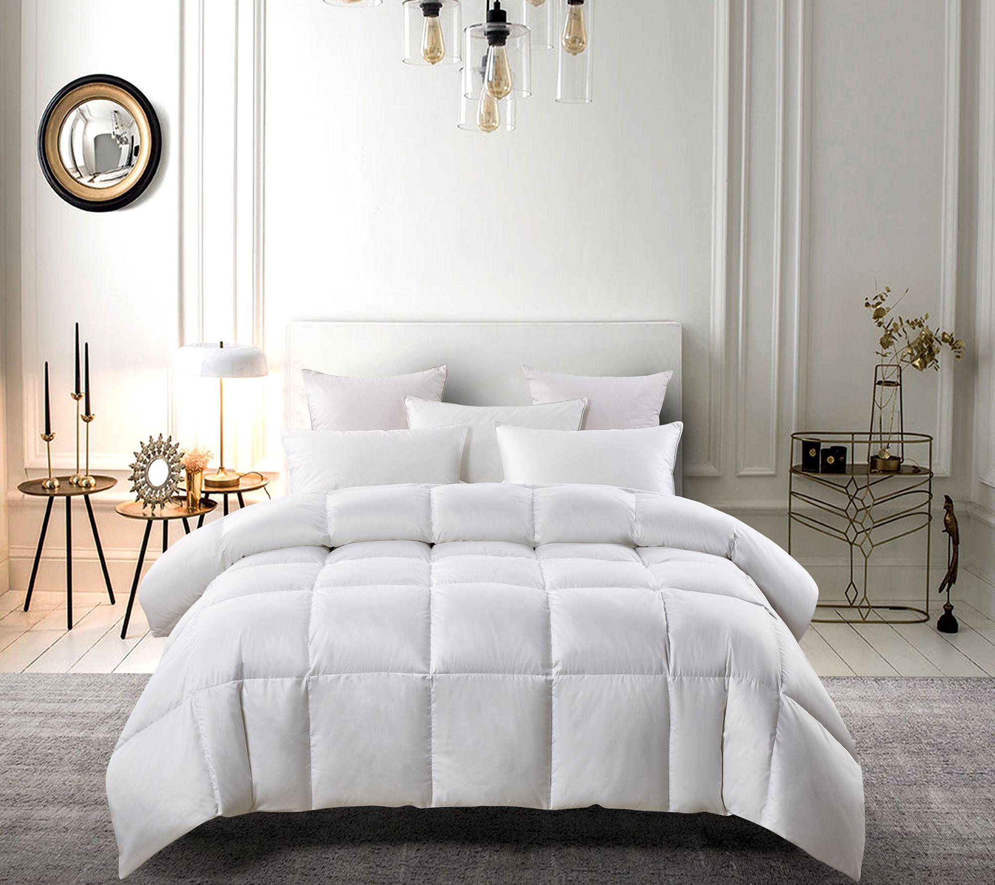 Serta Light Warm White Down Fiber Comforter F Q Qvc Com