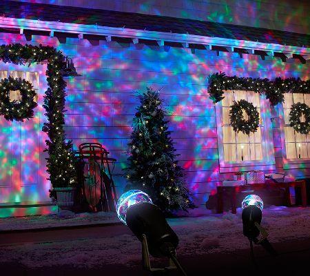 Qvc Set Of 2 Indoor Outdoor Kaleidoscope Led Lightshow