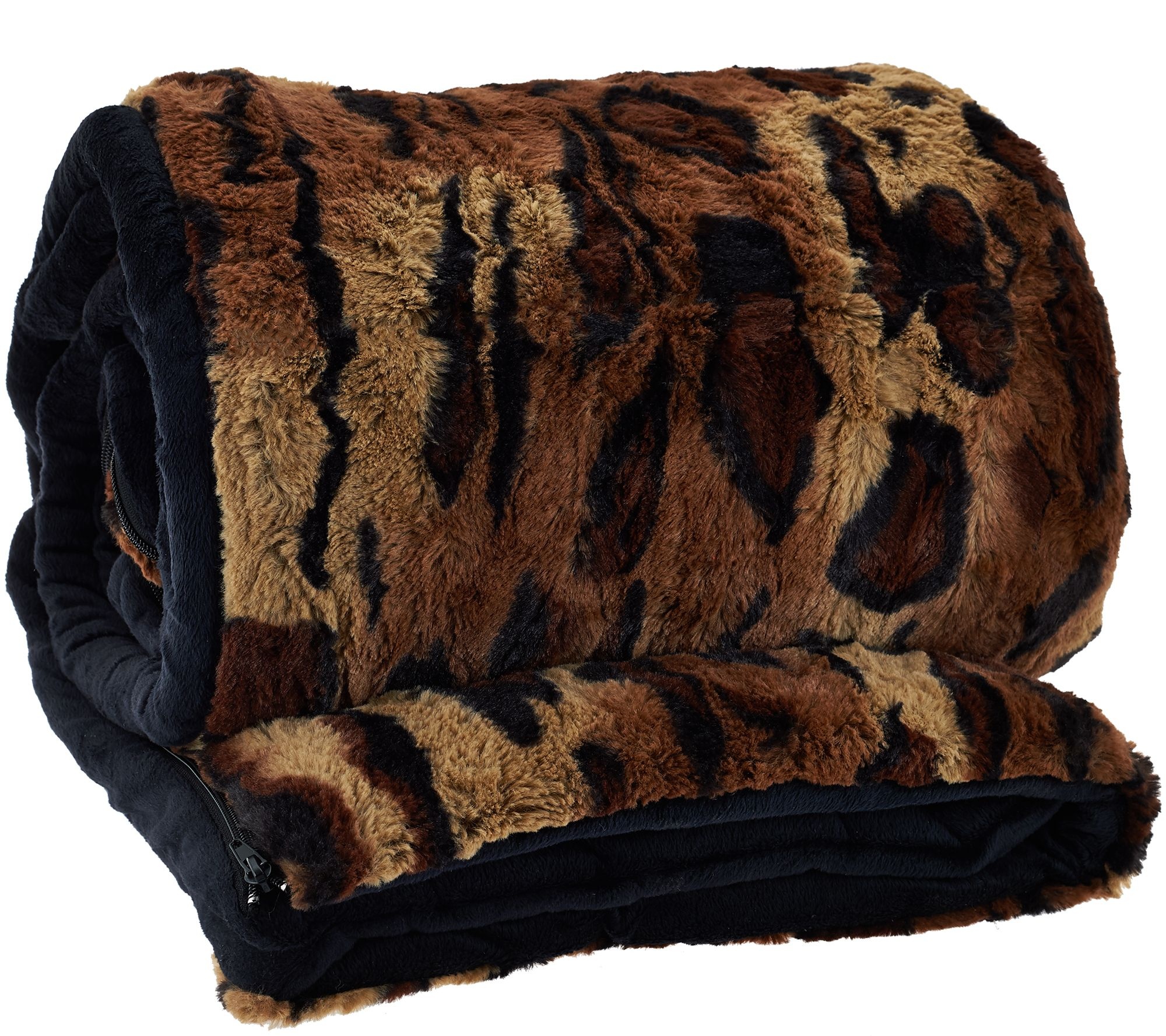 Dennis Basso 31 X70 Snuggly Luxe Faux Fur Velboa Sleeping Bag Page 1 Qvc