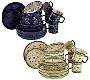 Temp-tations Old World or Floral Lace 16-pc Deep Dish Dinnerware Set - H214686