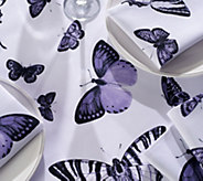 Casa Zeta-Jones Butterfly 60 x 120 Table Cloth w/ 10 Napkins - H215286