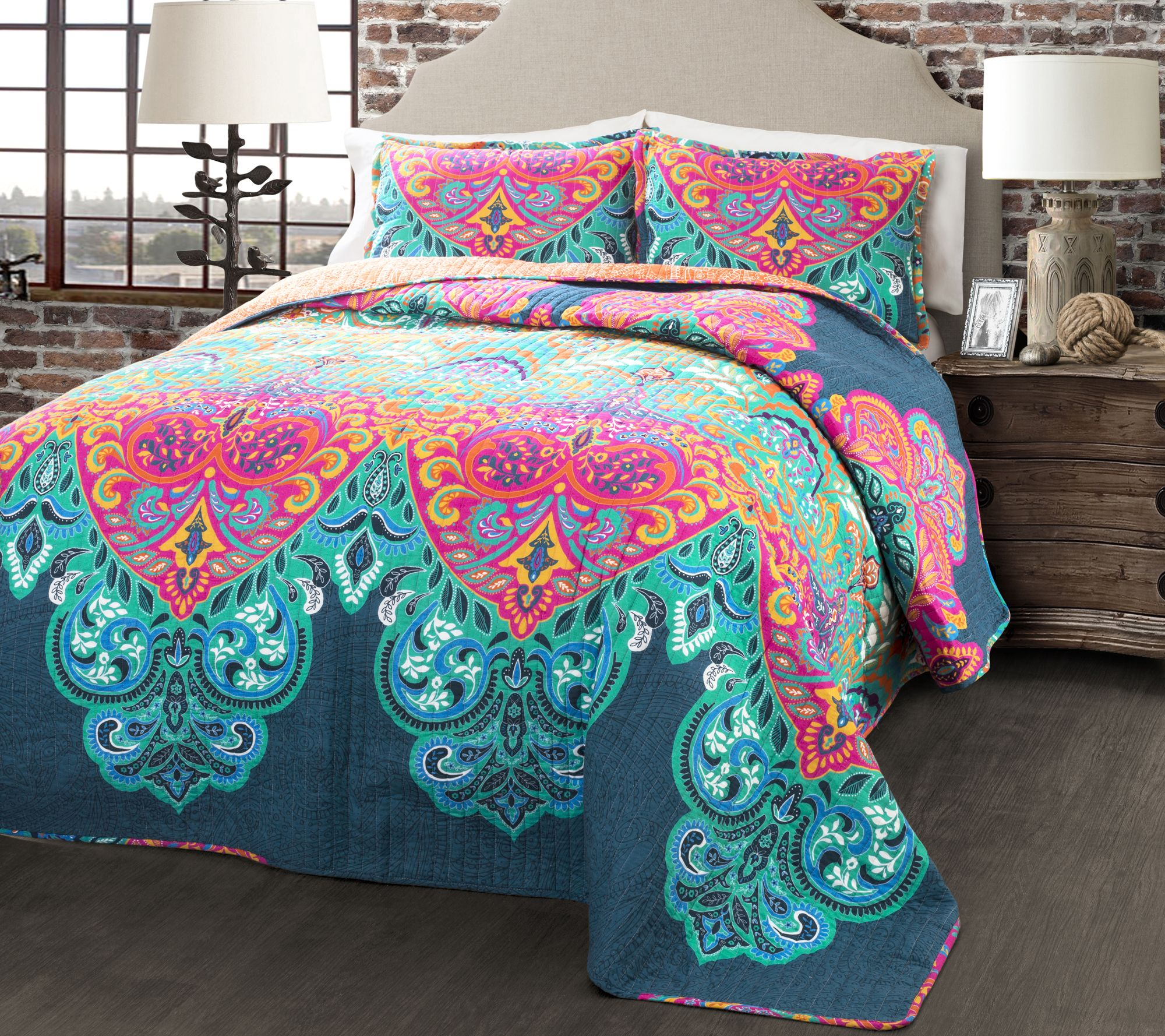 Boho Chic 3 Piece Full Queen Quilt Set By Lushdecor Page