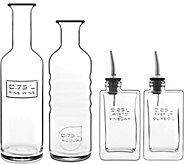 Luigi Bormioli Optima 4-Piece Bottle Set - H294586