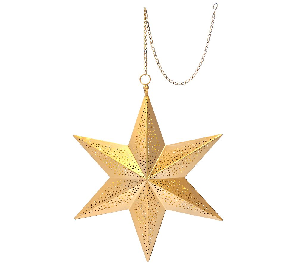 ED On Air Illuminated Punched Metal Hanging Star by Ellen DeGeneres ...
