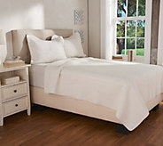 LOGO by Lori Goldstein Cable Stitched Queen Coverlet & Shams - H208887