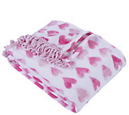 Berkshire Blanket Watercolor Hearts Velvet SoftThrow Blanket - H302887