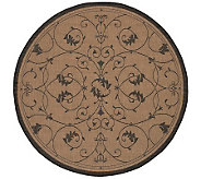 Couristan Recife Veranda Indoor/Outdoor 76Diam Round Rug - H175088