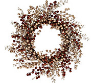 As Is 22 Glitter Berry Wreath by Valerie - H210488