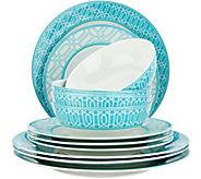 Lenox Party Link 12-Piece Porcelain Dinnerware Set - H213988