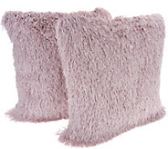 Casa Zeta-Jones Set of 2 Shag Fringe Pillows - H214088