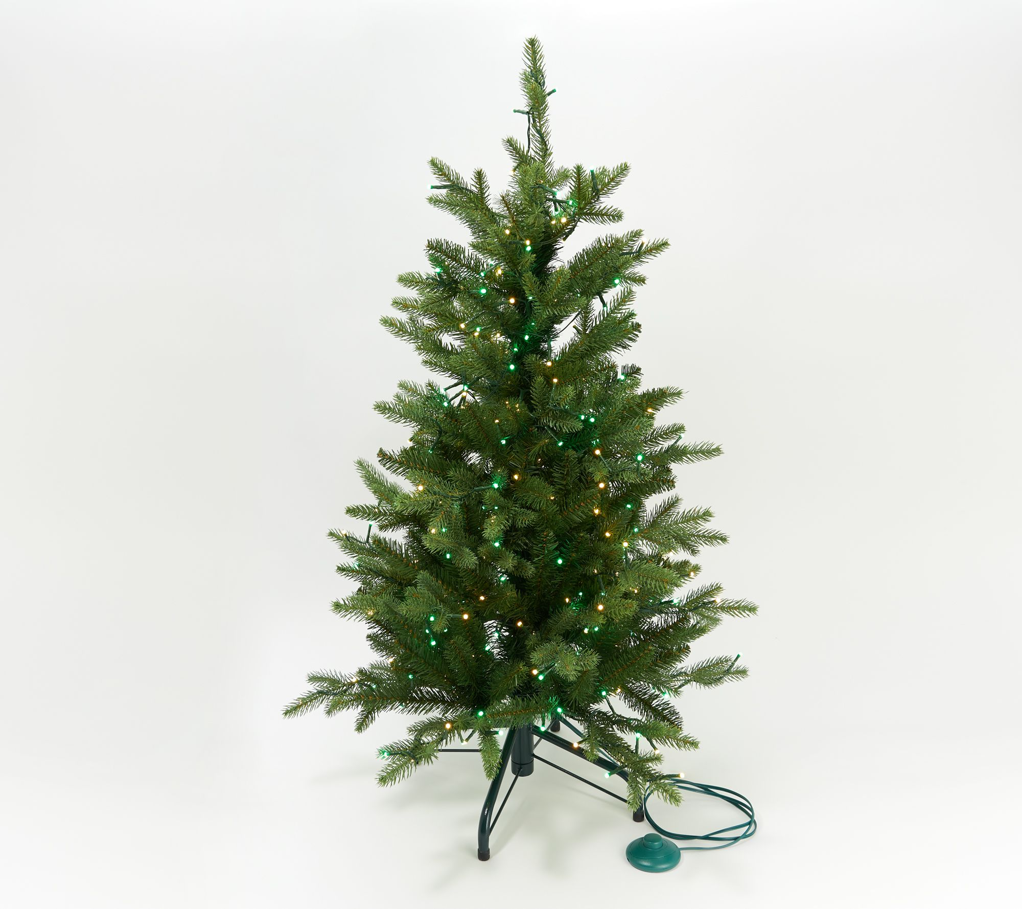 Santas Best Christmas Trees.Santa S Best 3 Alberta Spruce Starry Wrgb Christmas Tree Qvc Com