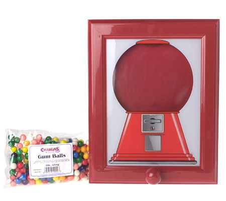 Refillable Gumball Dispensing Picture Frame With Gumballs Page 1