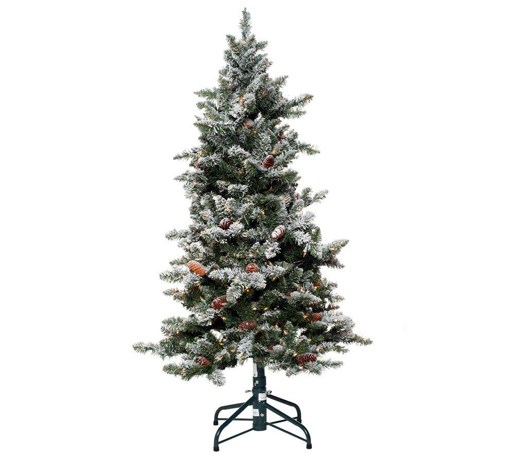 Bethlehem Lights 5\' Woodland Pine Christmas Tree w/Instant Power ...