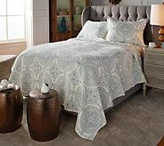 Casa Zeta-Jones Embroidered Medallion Cotton Full Quilt Set - H215989