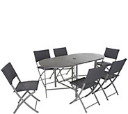 Cosco Outdoor 7-Piece Delray Compact Patio Dining Set - H300889