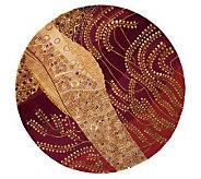 Momeni New Wave Ferns 59 Round Handmade WoolRug - H161690