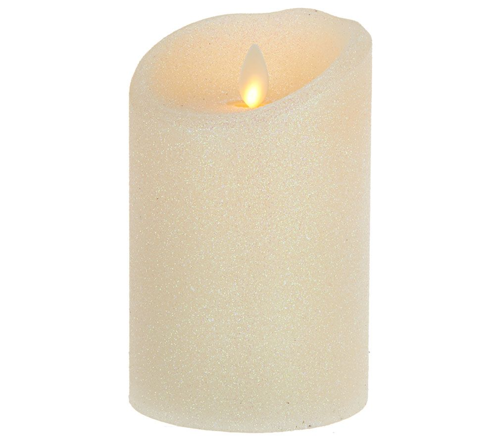 flameless candles with timer luminara 5 quot flameless glitter candle with timer page 1 28703