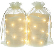 Lightscapes (2) 5 Swirl Light Flameless Candles with Gift Bags - H207990