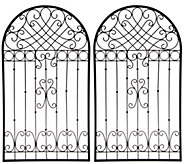 Indoor/ Outdoor Set of (2) 30 Metal Garden Gates by Valerie - H214690