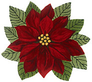 Nourison 3 x 3 Hand-Tufted Poinsettia Accent Rug - H214790