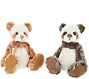 Charlie Bears Collectible Dick & Liddy Set of 2 Plush Bears - H214990