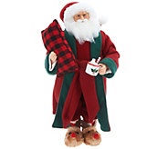 Choice of Plush Santa or Mrs. Claus with Slippers by Valerie - H215390