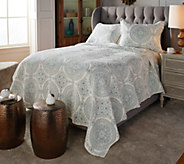 Casa Zeta-Jones Embroidered Medallion Cotton Queen Quilt Set - H215990