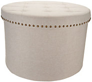 Inspire Me! Home Decor 24 Round Tufted Storage Ottoman - H216090