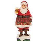 Jim Shore Heartwood Creek Craft Beer Santa Figurine - H216190
