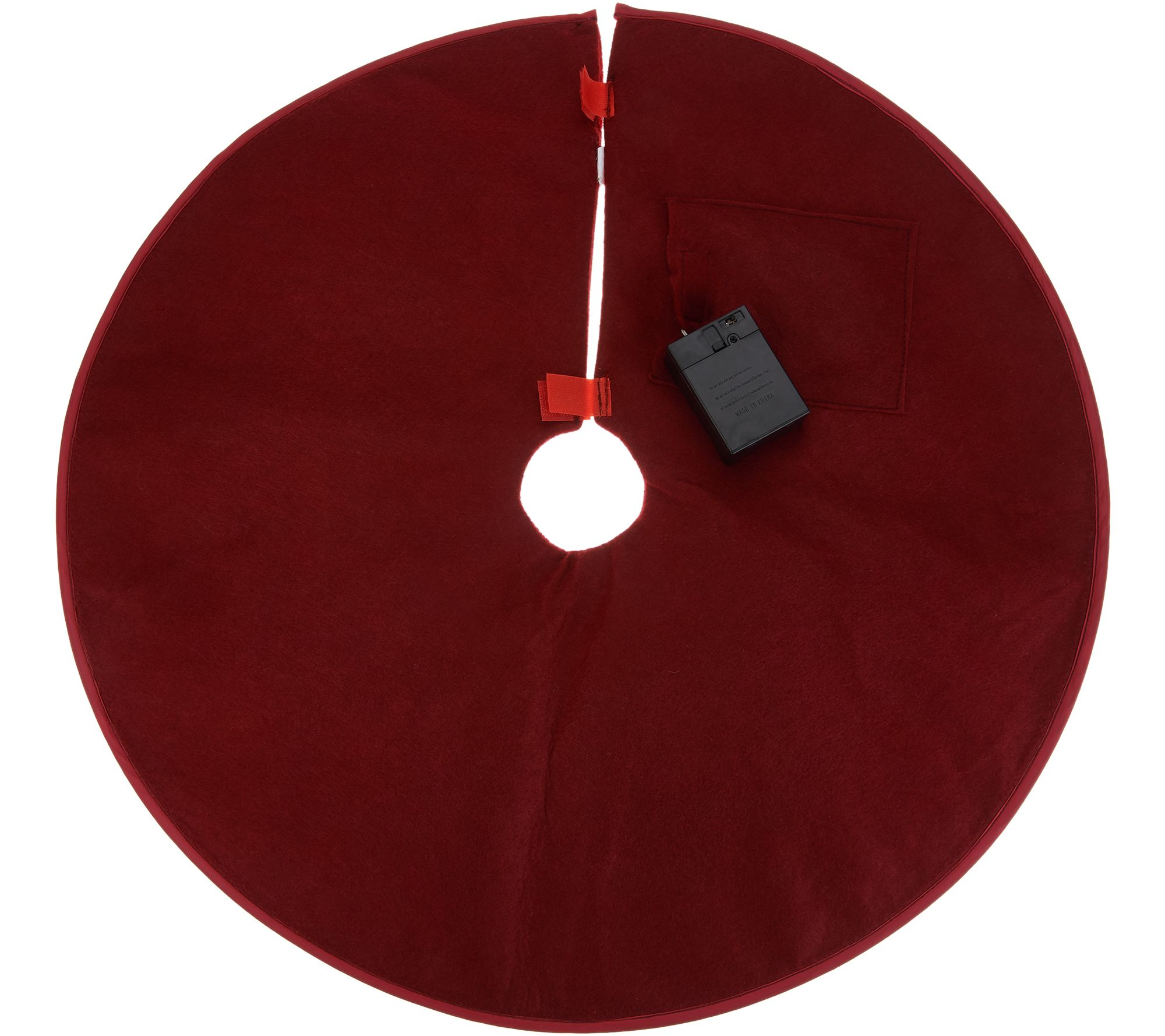 Round Illuminated And Twinkling Tree Skirt By Valerie Page  Qvc Com