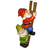 Design Toscano Up The Ladder Climbing Gnomes Statue - H300590