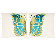Set of 2 18 x 18 Indra Blue Wing Pillows fromSafavieh - H365790