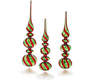 Set of 3 Whimsical Mercury Glass Finials by Valerie - H208791