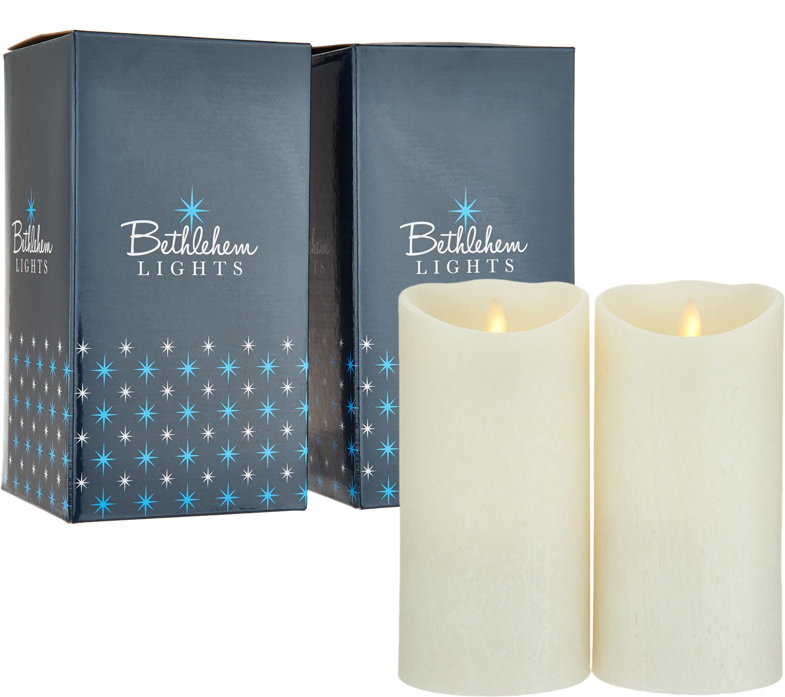 Bethlehem Lights Touch Candle Set Of 2 7 Candles In Gift Bo Qvc