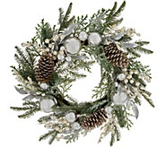 24 Ornament, Berry, and Pinecone Wreath by Valerie - H212791