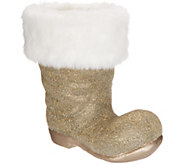 Dennis Basso Beaded Santa Boot with Faux Fur Trim - H217091