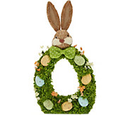 17 Bunny Accent with Easter Eggs by Valerie - H217791