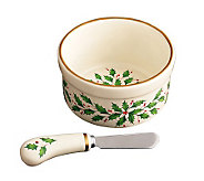 Lenox Holiday Dip Bowl with Spreader - H281791