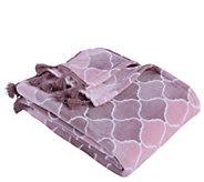 Berkshire Blanket Velvet Soft Ombre Throw Blanket with Tassels - H302891