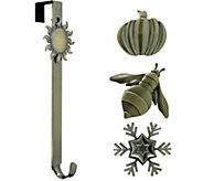 Haute Decor Wreath Hanger with 4 Multi-OccasionIcons - H303391