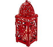 Dennis Basso 13 Pierced Lantern w/ Flameless Candle & Timer - H213292