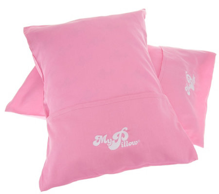 MyPillow Set of 2 Roll & Go Travel Pillows