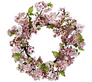 24 Cherry Blossom Wreath by Nearly Natural - H295592